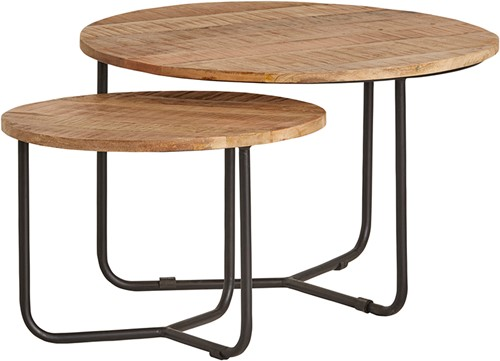 Centro ronde salontafel set van 2 - Best Seller Collection