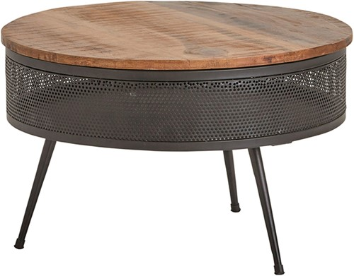 Perfo salontafel met bergruimte medium - Best Seller Collection