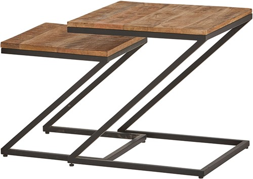Zorro Z vormige salontafel set van 2 - Best Seller Collection