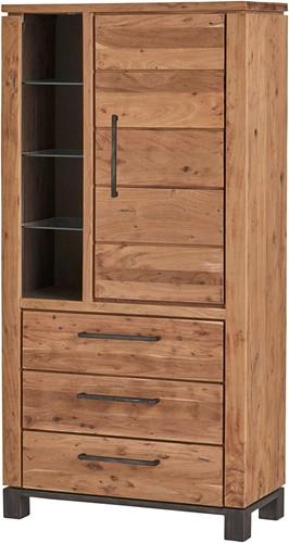 Vitrinekast met 1 deur, 3 lades en 1 open vak - Dalby Collection
