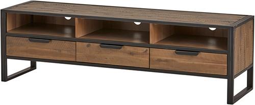 Tv dressoir 165 met 3 lades en 3 open vakken - Eleganza Collection