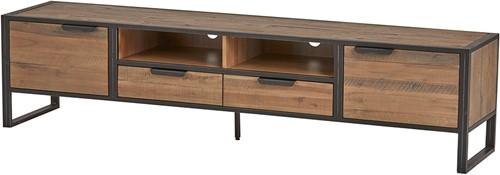 Tv dressoir 210 met 3 deuren, 2 lades en 3 open vakken - Eleganza Collection
