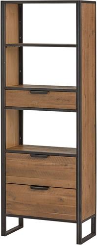 Boekenkast met 3 lades en 3 open vakken - Eleganza Collection