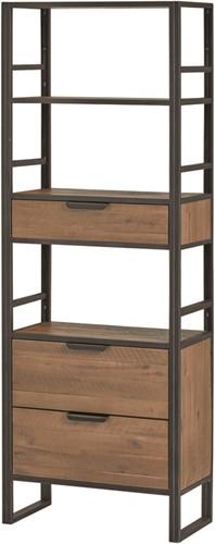 Open boekenkast met 3 lades en 3 open vakken - Eleganza collection