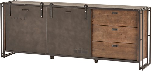 Dressoir 195 met 3 lades en 2 schuifdeuren - Estilo 7 Collection