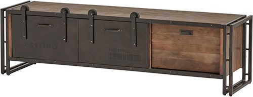 Tv dressoir 190 met 1 lade en 2 schuifdeuren - Estilo 7 Collection