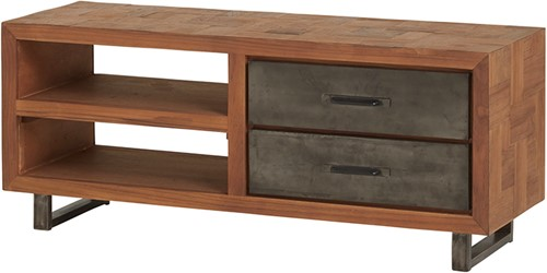 Tv dressoir 120 met 2 lades en 2 open vakken - Fantasy Collection