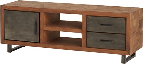 Tv dressoir met 1 deur, 2 lades en 2 open vakken - Fantasy Collection