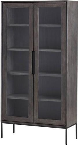 Vitrinekast met 2 glazen deuren - Gio Collection