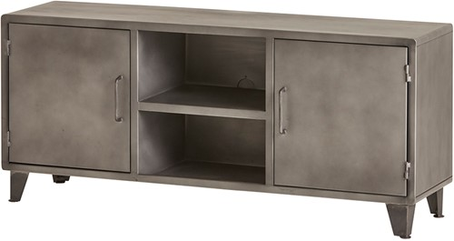Tv dressoir 140 met 2 deuren en 2 open vakken - Ferro Collection