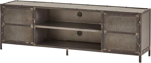 Tv dressoir 190 met 2 deuren en 2 open vakken - Ferro Collection