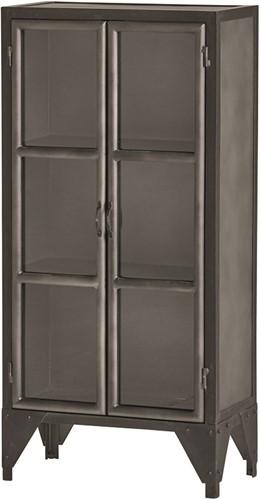 2 deurs kast medium met glazen deuren - Ferro Collection