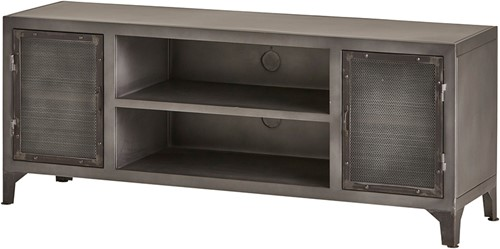 Tv dressoir 150 met 2 deuren en 2 open vakken - Ferro Collection