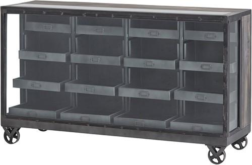 Display kast met lades op wieltjes - Ferro Collection