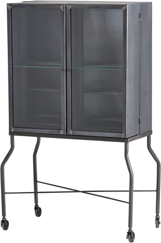 Barkast met 2 deuren op wieltjes - Ferro Collection