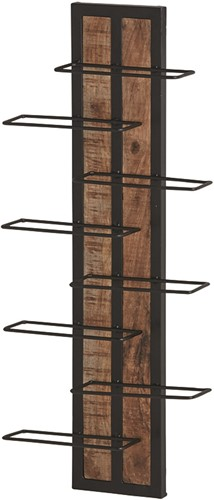 Metalen/houten wand wijnrek - New Bestseller Collection