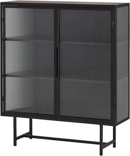 Kast 2 deurs half hoog - Retro Glass Collection