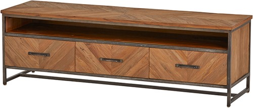 Tv dressoir 160 met 3 lades en 1 open vak - Venice Collection