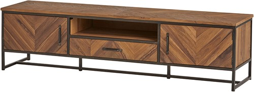 Tv dressoir 190 met 2 deuren, 1 lade en 1 open vak - Venice Collection