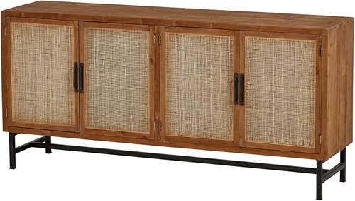Dressoir natural 180 met 4 deuren - Webbing Collection