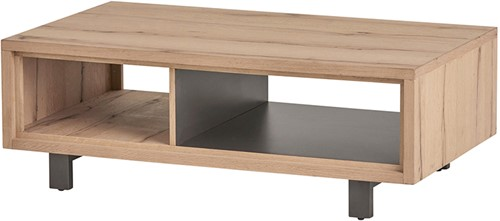 Salontafel 120 met 2 open vakken - Xavi Oak Collection