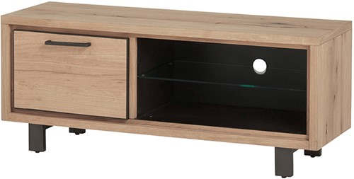Tv dressoir 120 met 1 deur en 2 open vakken - Xavi Oak Collection