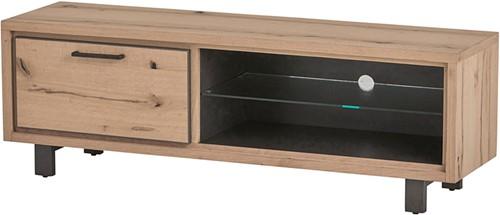 Tv dressoir 150 met 1 deur en 2 open vakken - Xavi Oak Collection