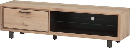 Tv dressoir 180 met 1 deur en 2 open vakken - Xavi Oak Collection