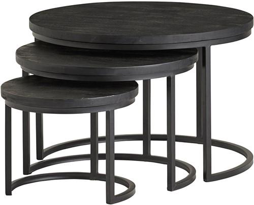 Black Enzo salontafel set van 3 - Bon Noir Collection